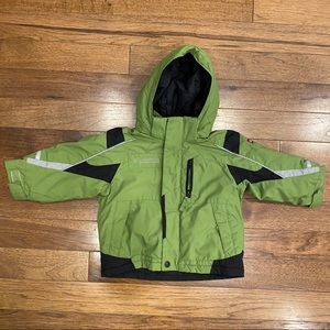 COLUMBIA TODDLER GREEN OUTDOOR HOODED JACKET